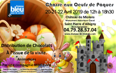 Egg hunt at Miolans Castle